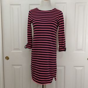 Merona navy and hot pink sheath dress size s